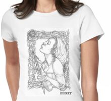Thornes of a Rose Womens Fitted T-Shirt