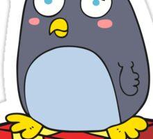 cartoon christmas penguin Sticker