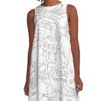Aztec Gods A-Line Dress