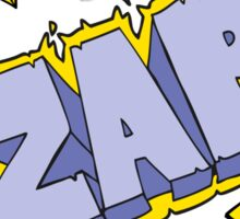 cartoon zap symbol Sticker