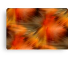 Abstract Orange Brown Yellow Colors Canvas Print