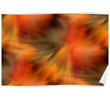 Abstract Orange Brown Yellow Colors Poster