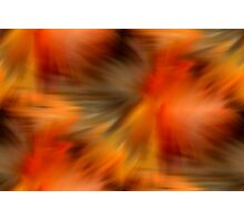 Abstract Orange Brown Yellow Colors Photographic Print