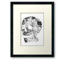 Skull Wanderlust Black and White Framed Print