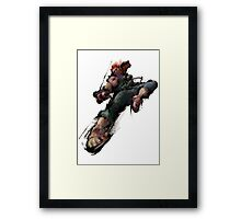 Akuma Dive Kick Framed Print