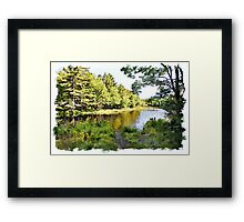 Mersey River watercolour Framed Print
