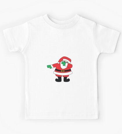 Santa Dabbin' Through The Snow Kids Tee