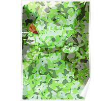Green Camo 2.5 Poster