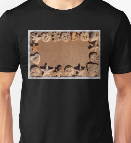 Christmas cookies background Unisex T-Shirt