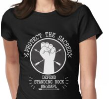 protect - standing rock Womens Fitted T-Shirt