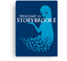 Queen of Ice and Storybrooke Canvas Print