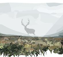 Stag in the Mist by callanhead