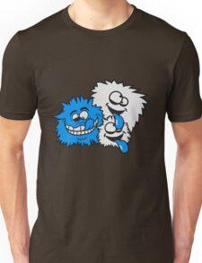 party crew feiern spaß gesicht comic cartoon verrückt crazy wahnsinnig hornbrille lustig lachen verwirrt psycho bescheuert blöd idiot nerd geek schlau  Unisex T-Shirt