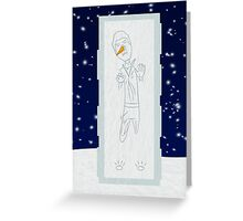 Han Solo in Ice Holiday Card Greeting Card