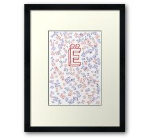 Cyrillic difference  Framed Print