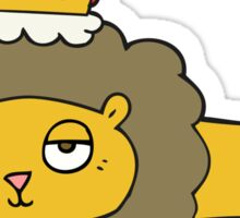cartoon lion with crown Sticker