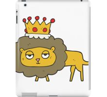 cartoon lion with crown iPad Case/Skin