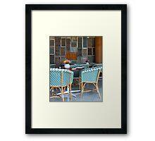 Shutters & Seats Framed Print