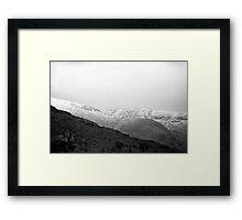 Terrain of Ridges Framed Print