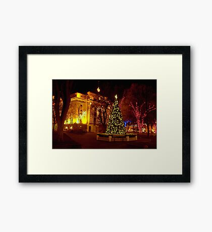 The Courthouse Plaza Framed Print
