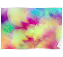 Soft Abstract Autumn Leaves  Poster