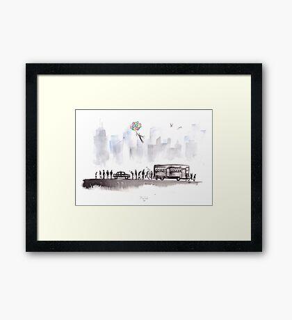 Morning Commute Framed Print