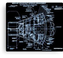 Mercury Capsule Technical Drawing Canvas Print