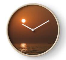 Sunset At Sea Clock