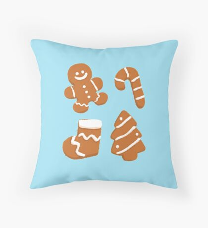 Gingerbread cookies Throw Pillow