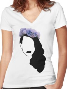 Lana Del Rey - Simplistic - Lips Women's Fitted V-Neck T-Shirt