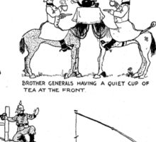Heath Robinson, Cracking Nuts, World War I, Cartoon, W. Heath Robinson Sticker