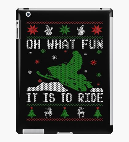 Oh What Fun Snowmobile iPad Case/Skin
