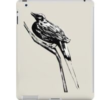 Long tailed blue bird 4 iPad Case/Skin