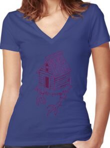 Baba Yaga's House of Horrors Women's Fitted V-Neck T-Shirt