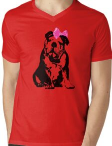 Betty Bulldog Mens V-Neck T-Shirt