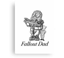 Fallout Dad (White) Canvas Print