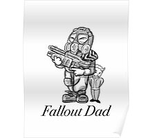 Fallout Dad (White) Poster