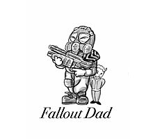 Fallout Dad (White) Photographic Print