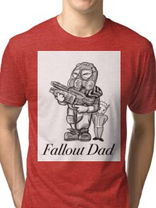 Fallout Dad (White) Tri-blend T-Shirt