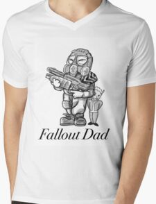 Fallout Dad (White) Mens V-Neck T-Shirt