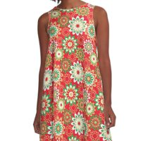 Christmas Floral Pattern A-Line Dress