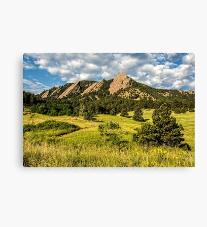 Delicious Vanilla Clouds On A Summer Chautauqua Morning Canvas Print