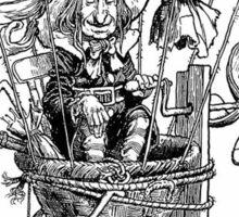Heath Robinson,  illustration, The Adventures of Uncle Lubin, 1902, W. Heath Robinson Sticker