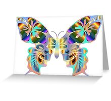 Colourful butterfly Greeting Card