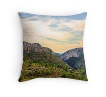 Jalon Valley towards the Mediterranean Sea  Throw Pillow