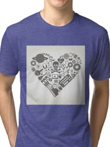 Science heart Tri-blend T-Shirt
