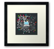 Science the computer Framed Print