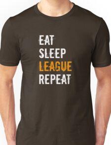 League Gamer Shirt Eat Sleep League Repeat t shirt Unisex T-Shirt