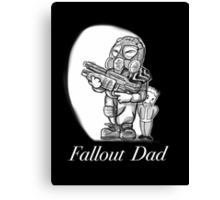 Fallout Dad (Black) Canvas Print