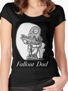 Fallout Dad (Black) Women's Fitted Scoop T-Shirt